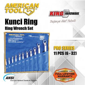 Kunci Ring Set AT 11 Pcs (6-32) Pro Series