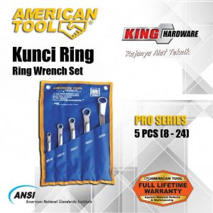 Kunci Ring Set AT 5 Pcs (8-24) Pro Series