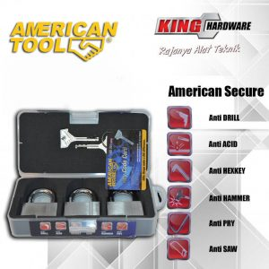 Gembok Key Alike 50 mm (3 Pcs) American Secure - Anti Potong