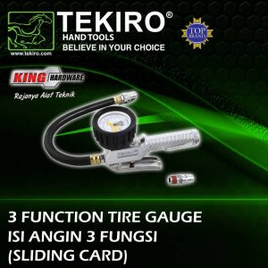 Tire Gauge 3 Function 200 Psi Tekiro