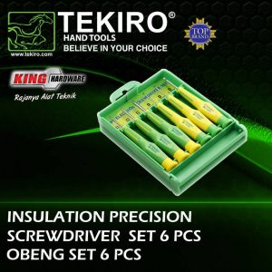 Obeng Presisi Insulation Tekiro 6 Pcs