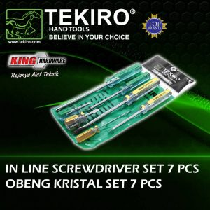 Obeng GG Crystal Tekiro Set 7 Pcs