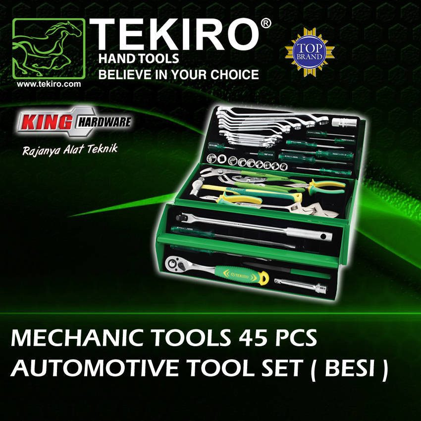 Mechanic Tools Tekiro Set 45 Pcs ( Besi )