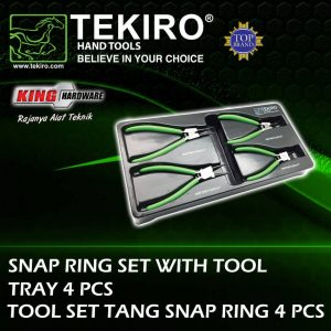 Tang Tool Set Snap Ring Tekiro 4 Pcs Cabinet