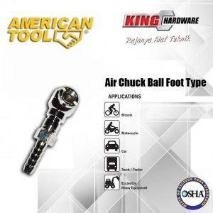 "Air Chuck Ball Foot Type 1/4"" AT"