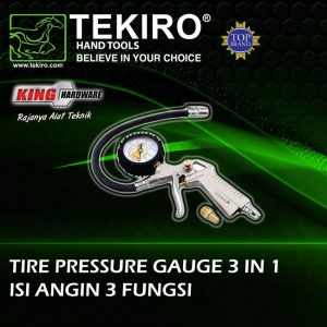 Tire Pressure Gauge 3 In 1 Tekiro