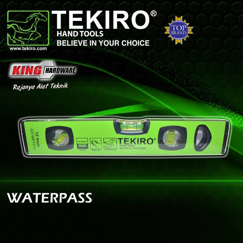 Waterpas Magnet Tekiro 80""