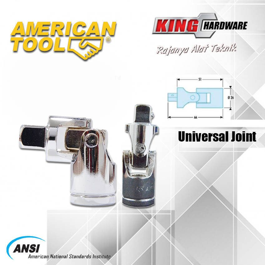 """Universal Joint 3/8"""" American Tool (8957462)"""