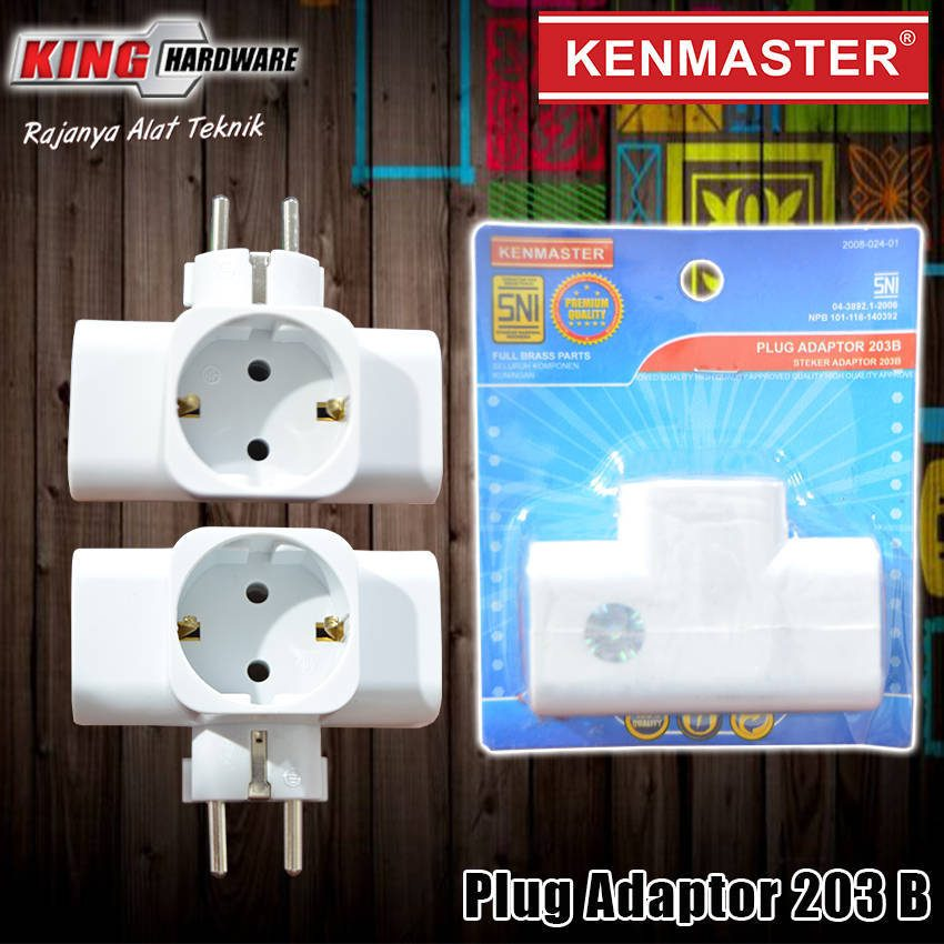 Steker Adaptor + Switch 203 B Kenmaster