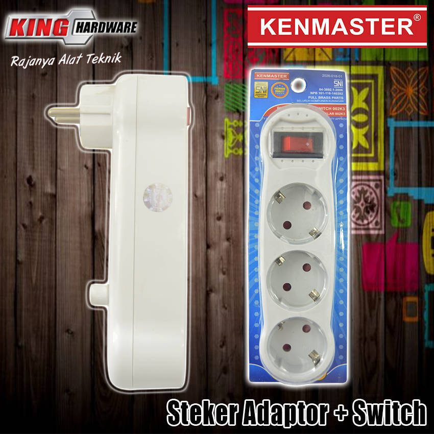 Steker Adaptor + Switch 002K3 Kenmaster