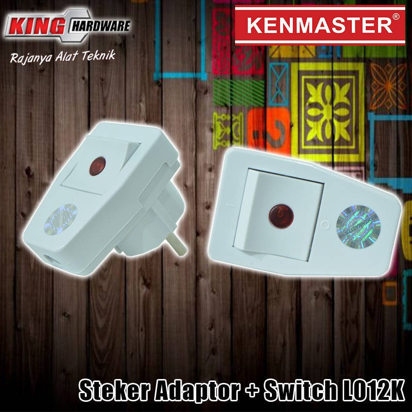 Steker Adaptor + Switch L012K Kenmaster