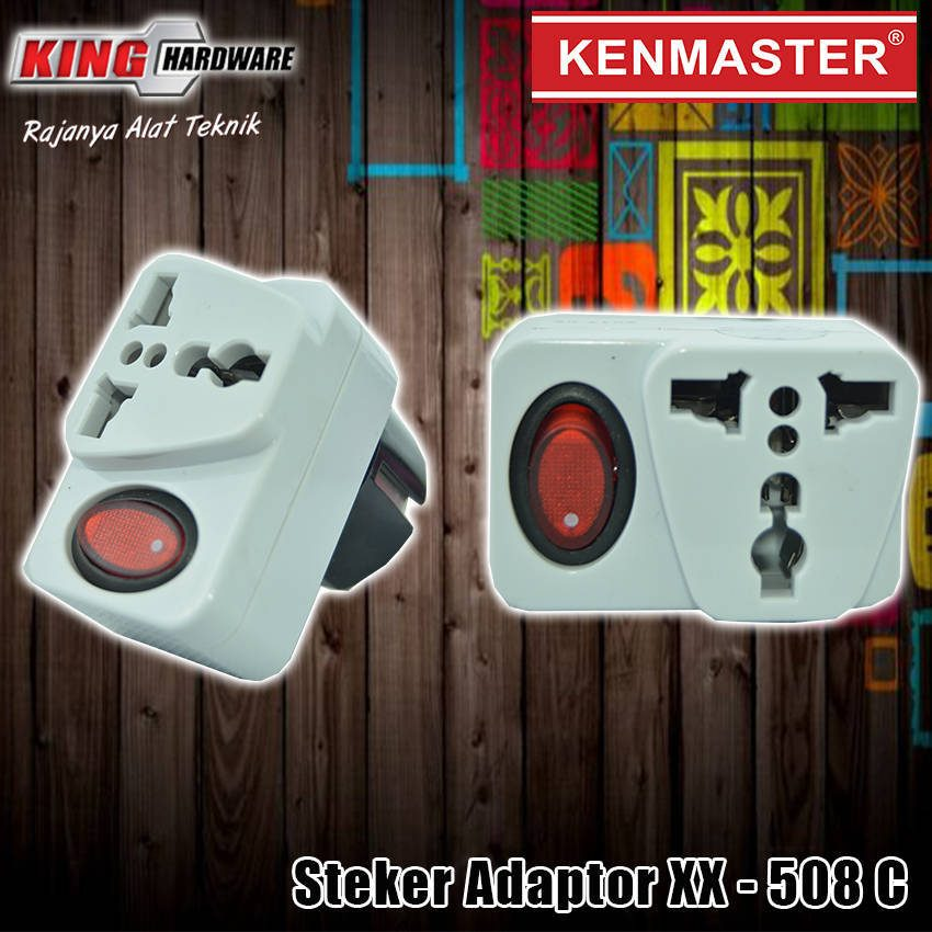 Steker Adaptor + Switch XX - 508 C Kenmaster