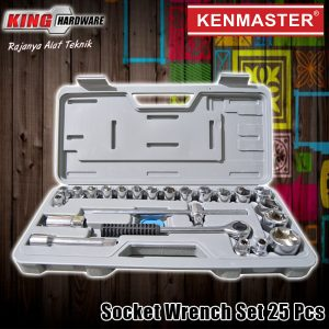 "Kunci Sok Set Kenmaster 1/2"" 6 PT 8-32 MM 25 Pcs PVC"