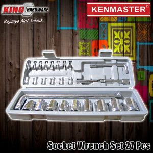 "Kunci Sok Set Kenmaster 1/2"" 6 PT 8-21 MM 27 Pcs PVC"