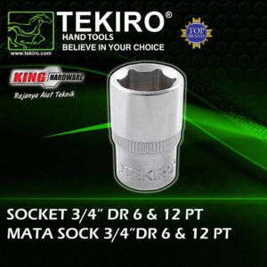 "Mata Sock Tekiro 3/4"" 12 PT 27 mm"