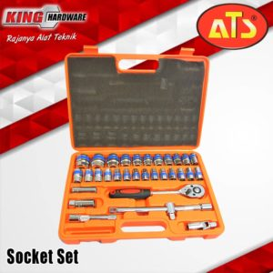 "Kunci Sok Set ATS 1/2"" 6 PT (8-32) mm 32 Pcs PVC"