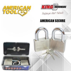 Gembok Key Alike 70 mm (2 Pcs) American Secure - Anti Potong