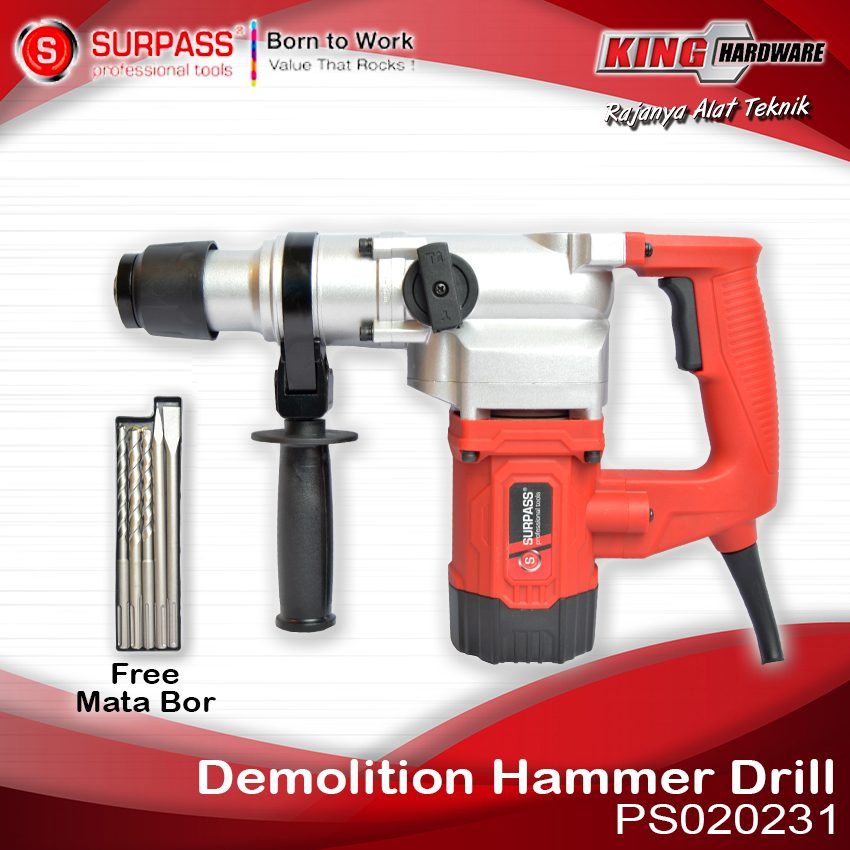 Mesin Bor Rotary Hammer Surpass PS020231