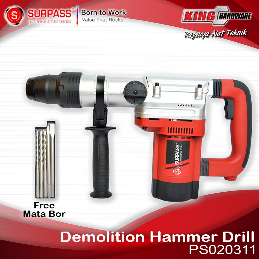 Mesin Bor Rotary Hammer Surpass PS020311