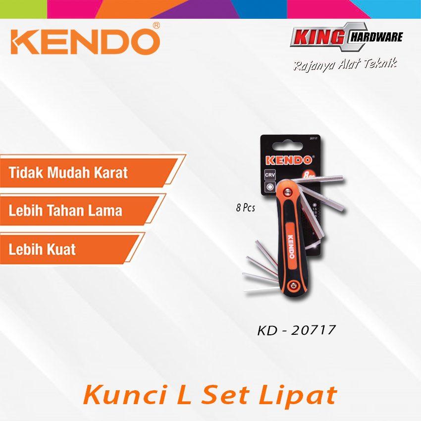 Kunci L Set Lipat Kendo 8 Pcs (KD-20717)