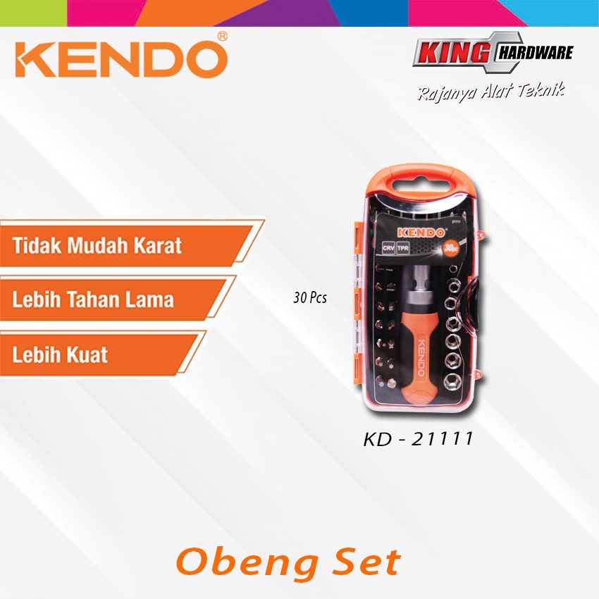 Obeng Set Kendo 30 Pcs (KD-21111)