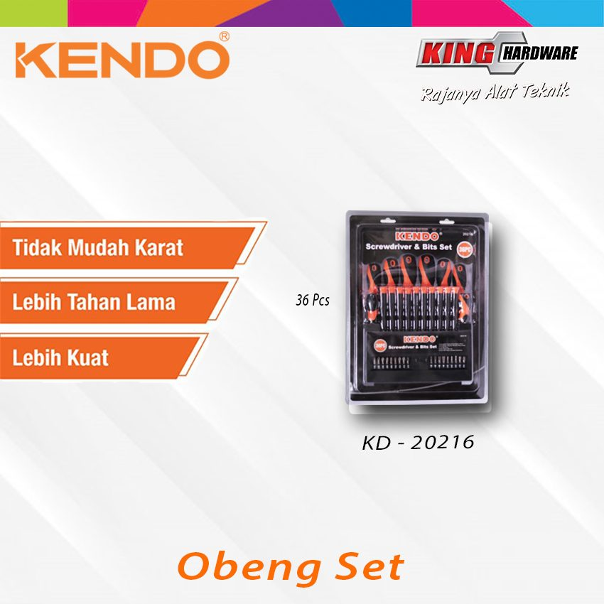 Obeng Set Kendo 36 Pcs (KD-20216)