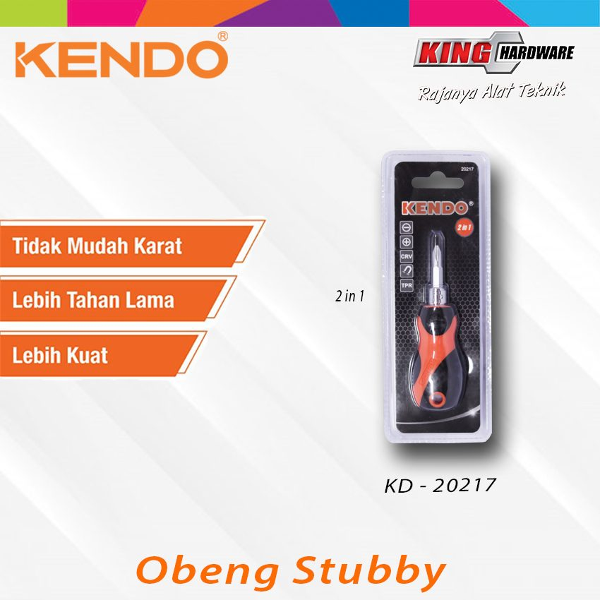Obeng Stubby 2IN1 Kendo (KD-20217)