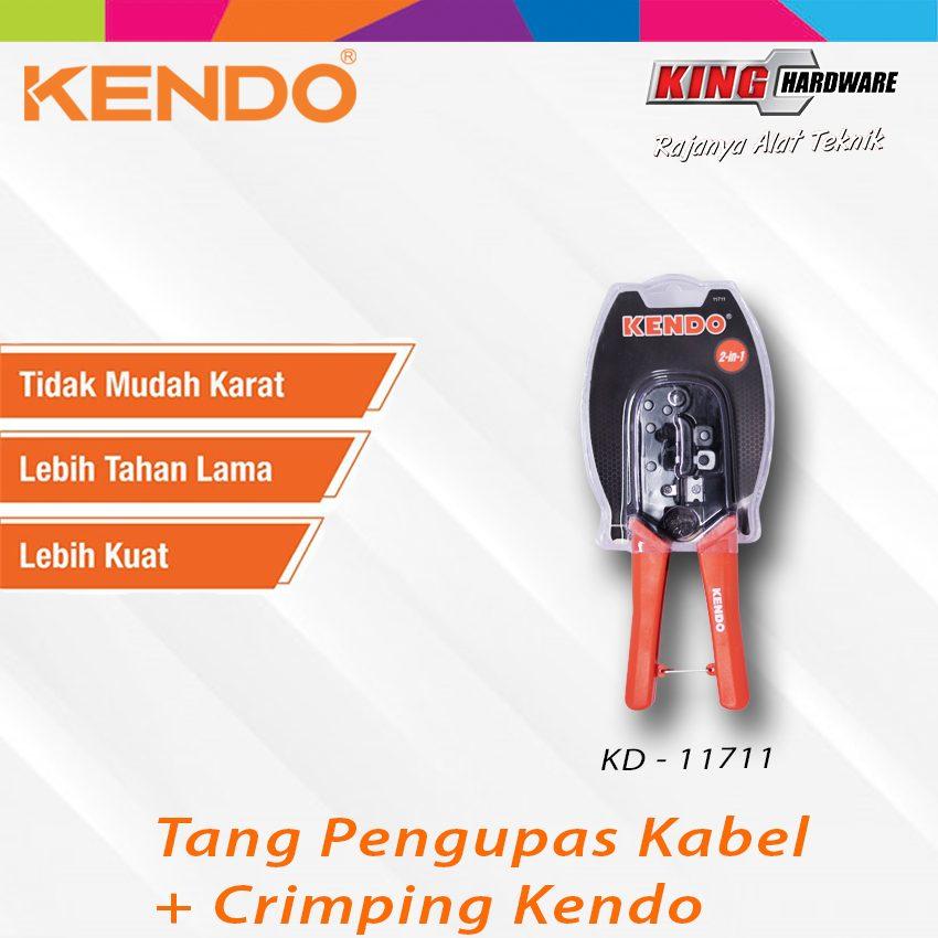 Tang Pengupas Kabel + Crimping Kendo (KD-11711)