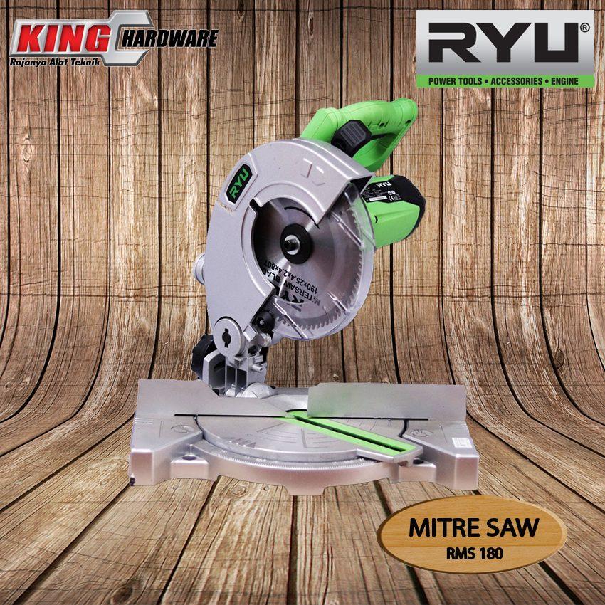 """Mesin Pemotong Aluminium / Mitre Saw Ryu 7"""" RMS 180"""